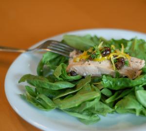 salmon + lemon relish